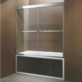 Na América do Norte Hotcake vidro corrediço da estrutura da porta de tela Banheira com chuveiro