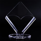 Elegante tejido transparente acrílico soporte de papel