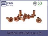 4.2X9mm Copper Plated Flat Head Reboque de aço tubular completo