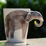 покрашенный вручную подарок Cuptea кружки кофеего 3D животный керамический декоративный