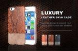 Serpiente / armadura / fibra de carbono / patrón del cocodrilo cuero de la PC del teléfono móvil de la PU para el iPhone para la nota 5