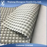 Polyester Rayon Spandex Walf Checker Plaid Pattern Stretch Dress Fabric