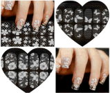 Модный прозрачный белый стикер ногтя стикеров искусствоа ногтя шнурка