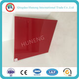 vetro verniciato rosso/cottura di 3-6mm di vetro per mobilia e la decorazione
