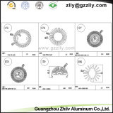 Het Frame van het Aluminium van de zonnebloem/Aluminium van Bouwmateriaal