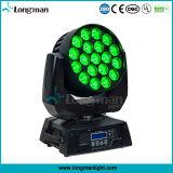 UL 19HP 15W LED RGBW fixações de lavar a cabeça em movimento