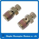 Dehnbare galvanisierte Stahl-/Messing-/Edelstahl-Nippel-Bremsen-Schieber-Zapfluft-Schraube