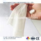 Pousser les lingettes humides propres, les lingettes nettoyées en coton comprimé, les tissus mouillés pour nettoyer les lingettes