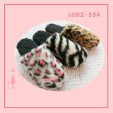 Pantoffel TPR van het Af:drukken van de Luipaard van de winter de Warme Binnen Mooie