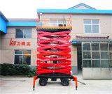 plate-forme aérienne hydraulique mobile manuelle de levage de ciseaux de 14m (SJY0.5-14)