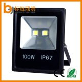 Imperméable 100W à l'extérieur du jardin Yard Slim COB LED Flood Light