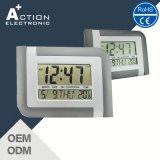 Grande mesa de alarme digital LCD e relógio de parede com data
