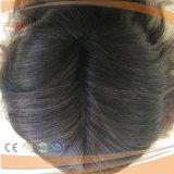 Poli Brown parrucca non trattata scura umana rivestita piena di vendita superiore delle donne di Handtied