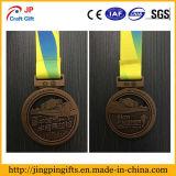 Medalla de metal acabado Maratón personalizada para eventos