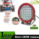 CREE 185W LED de 9 pulgadas de mancha roja de la luz de la conducción de camiones