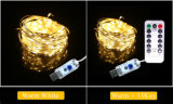 USB 5V 30 luces LED de la cadena de vacaciones con RF13clave remotos