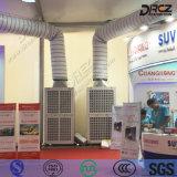 Verpackter Fußboden, der industrielle Klimaanlage für Ausstellung-Zelt steht