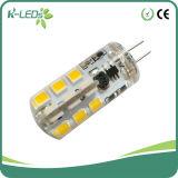 1.5 vatios de luz G4 Bipin bombilla LED AC / DC12V de silicona