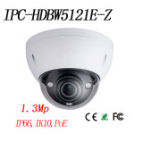 HD 1.3MP Red WDR Cámara domo de infrarrojos Vandal-Proof {Ipc-Hdbw5121e-Z}