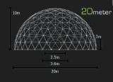 Tente de dôme de diamètre du bâti en acier 14m avec le type général