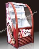 Showcase do indicador dos refrescos do refrigerador do indicador do supermercado