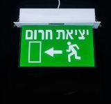 Lumière de signe de sortie de secours de qualité avec 3 heures de poste Emergency de temps