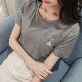 Qualité respirante Plaine à séchage rapide T-Shirt plante