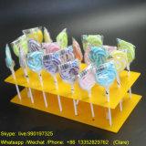 Présentoir acrylique fait sur commande de sucrerie de lucette