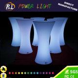 Bar extérieur Meubles Table LED de changement de couleur RVB