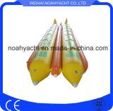 De grappige Dubbele het Roeien Vissen van de Vlieg van de Boot van de Banaan van de Buis