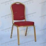 宴会の椅子Yc-Zl07を食事するスタック可能アルミニウム金属のホテルのレストラン