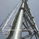 長い耐用年数40mの3脚の電気通信タワー