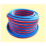 Red & Blue 1/4 X 100m Roll Rubber Welding Hose