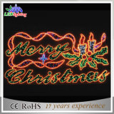 Morden Outdoor LED grande Feliz Natal Cartas Luz decorativa