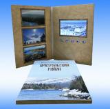 Presente promocional de 2016 4,1 polegadas LCD Video Handmade Paper Greeting Card