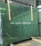 4mmから6mmの深緑色の反射ガラス