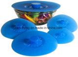 Het opnieuw te gebruiken Voedsel van het Silicone behandelt de Deksels van de Zuiging van het Silicone voor Container, Pan, Pot, Kom, Kop