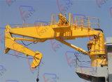 Guindaste Foldable marinho do navio do crescimento da junta da plataforma & da porta/doca