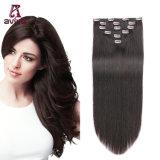 Virgin Hair Extension 2# 16inch 6PCS Clipper hair extension Remy clip dans les Extensions de cheveux humains (AV-CH006-2-16)
