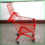 スーパーマーケット手のカートの折るショッピングトロリーはトラックをからかう