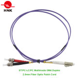 Шнур заплаты оптического волокна 50 Om4 LC/Sc/FC/St PC/Upc/APC симплексный двухшпиндельный мультимодный