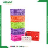 Panier en plastique de coffre empilable promotionnel d'emballage pour des fruits et légumes