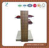 Carrinho de indicador de madeira da gôndola com vidro Tempered