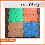 Pavimento di collegamento di gomma della sosta del giardino del campo da giuoco dei bambini del commercio all'ingrosso della fabbrica della Cina con colore variopinto