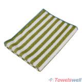 緑の縞のMicrofiberの台所皿タオル