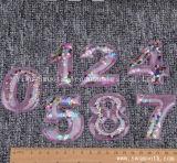 Nombre de mode 3D personnalisé Patch Perles en cristal Motif applique pour les vêtements