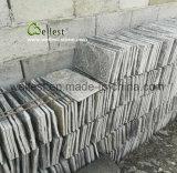 Mattonelle verdi di pietra del fungo della quarzite del giardino per il rivestimento e la copertura della parete