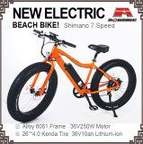 Электрический велосипед 7 Скорость жир шины 36V 48V сплава рамы E-Bike E-велосипед