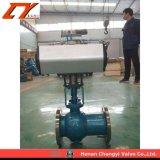 Fundición de acero hemisferio excéntrico NEUMÁTICO Válvula de bola para Industrial