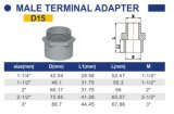 O PVC-U ASTM Sch40 de transferência para a Instalação Eléctrica adaptador macho D15